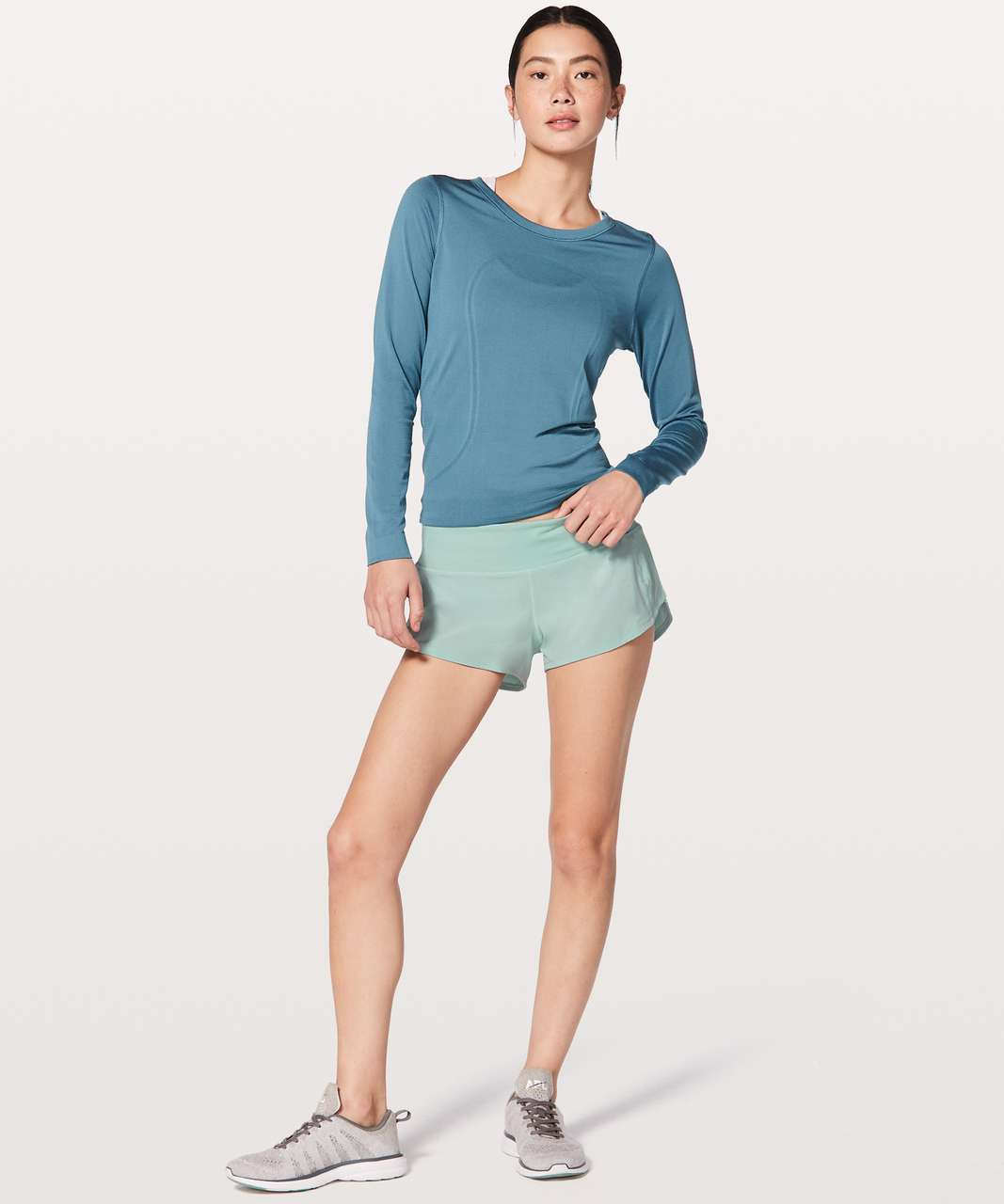 "Lululemon Speed Up Short 2.5"" - Tonic Sea"