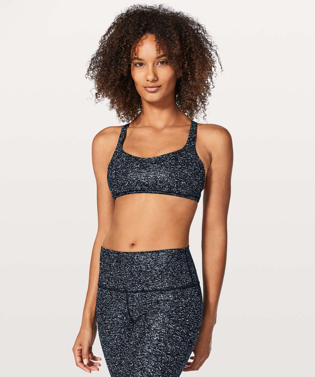 Lululemon Free To Be Zen Bra - Speckled Foil White Blue