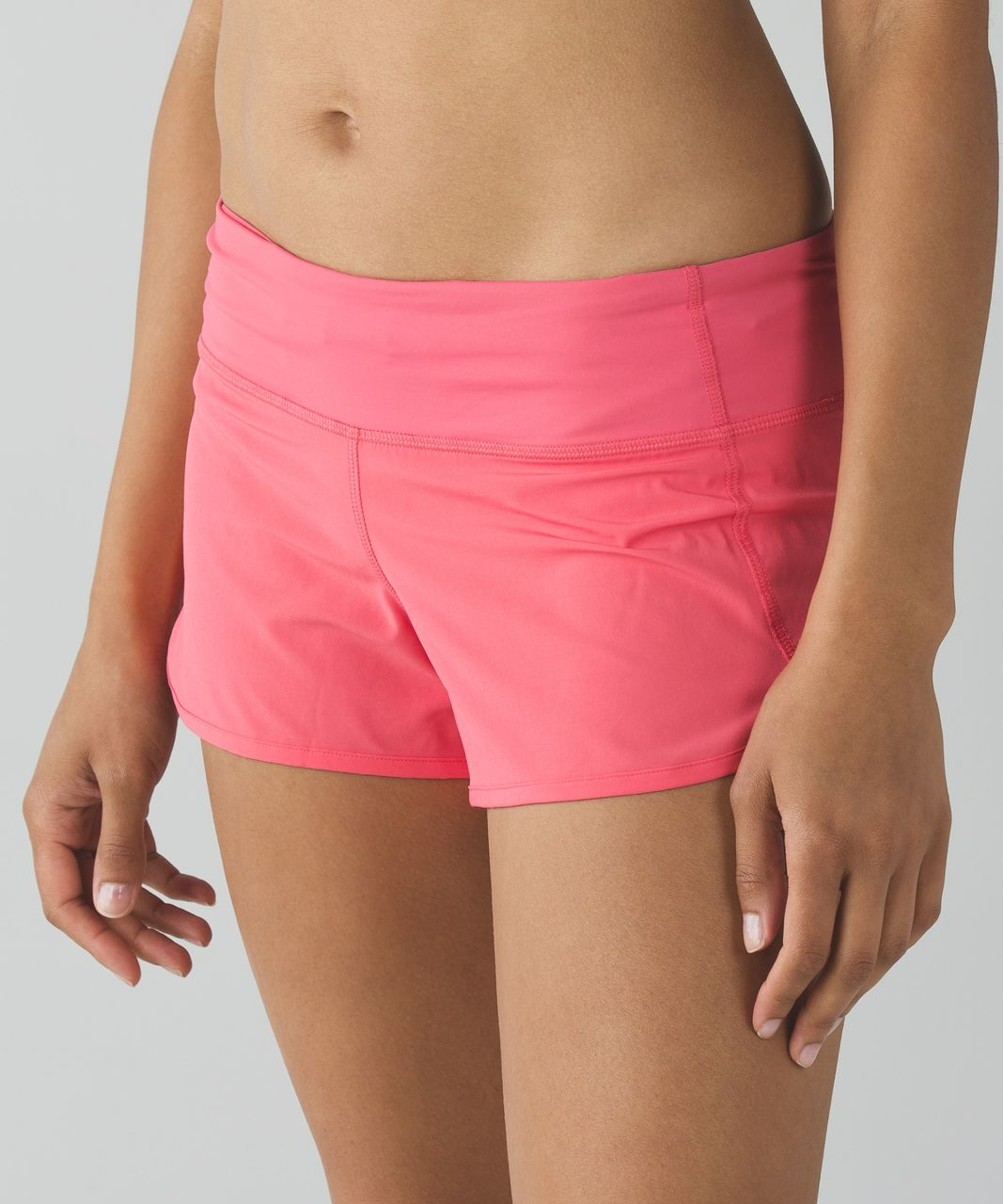 Lululemon Run:  Speed Short *4-way Stretch - Pink Lemonade
