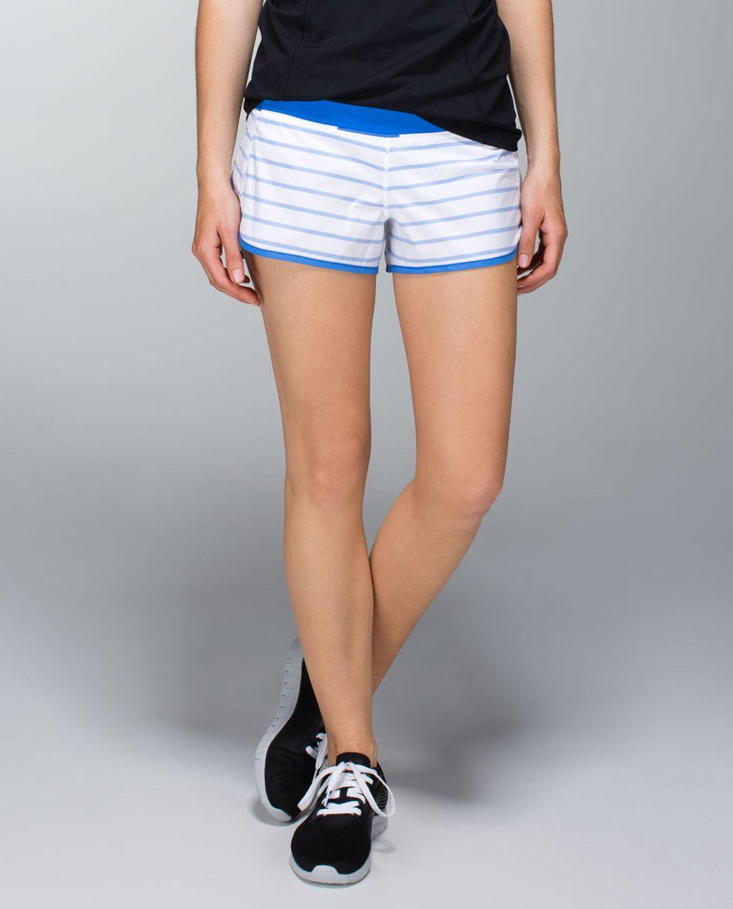 Lululemon Run:  Speed Short *2-way Stretch - Deauville Stripe Pipe Dream Blue White / Pipe Dream Blue