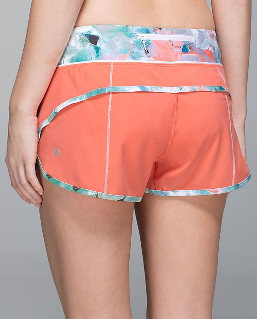 Lululemon Run:  Speed Short *4-way Stretch - Plum Peach / Blushed Illusion Multi
