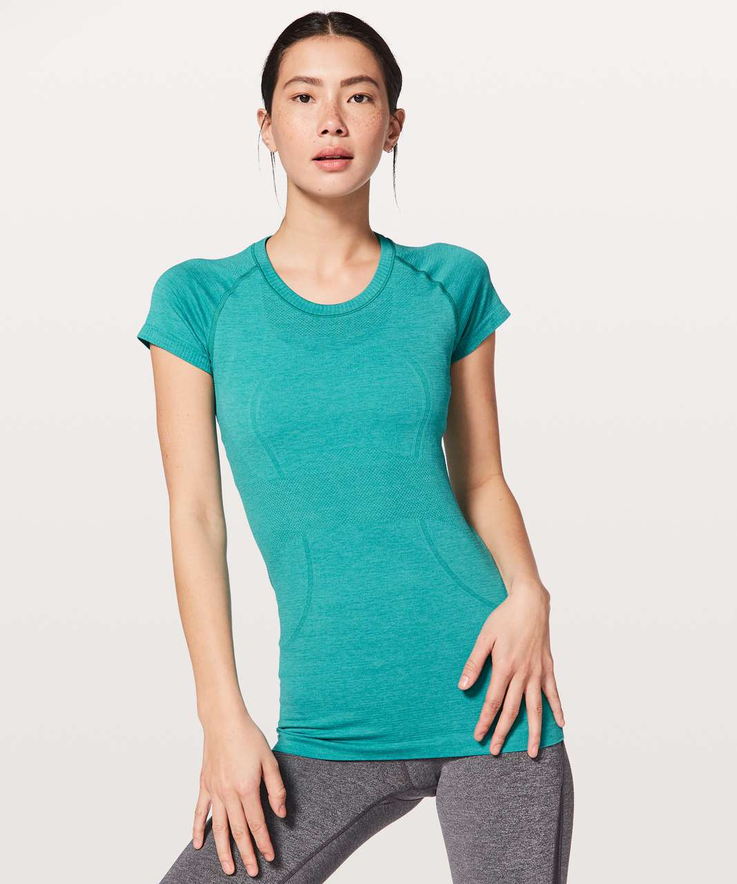 Lululemon Swiftly Tech Short Sleeve Crew - Eucalyptus / Spirit Green