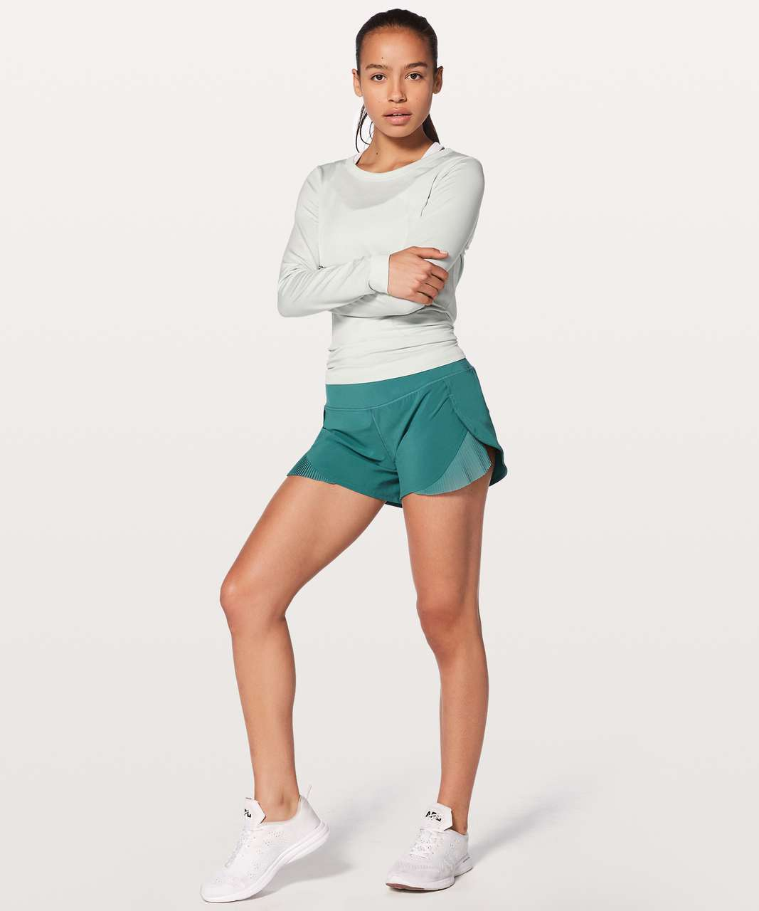 "Lululemon Play Off The Pleats Short 3"" - Sea Green"