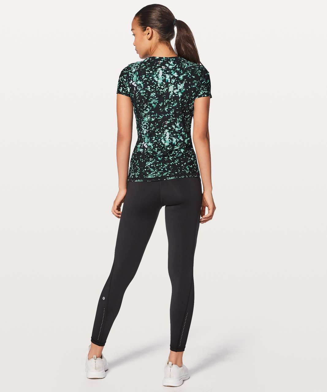 Lululemon Into the Sun Tee - Pixel Haze Multi Black / Black