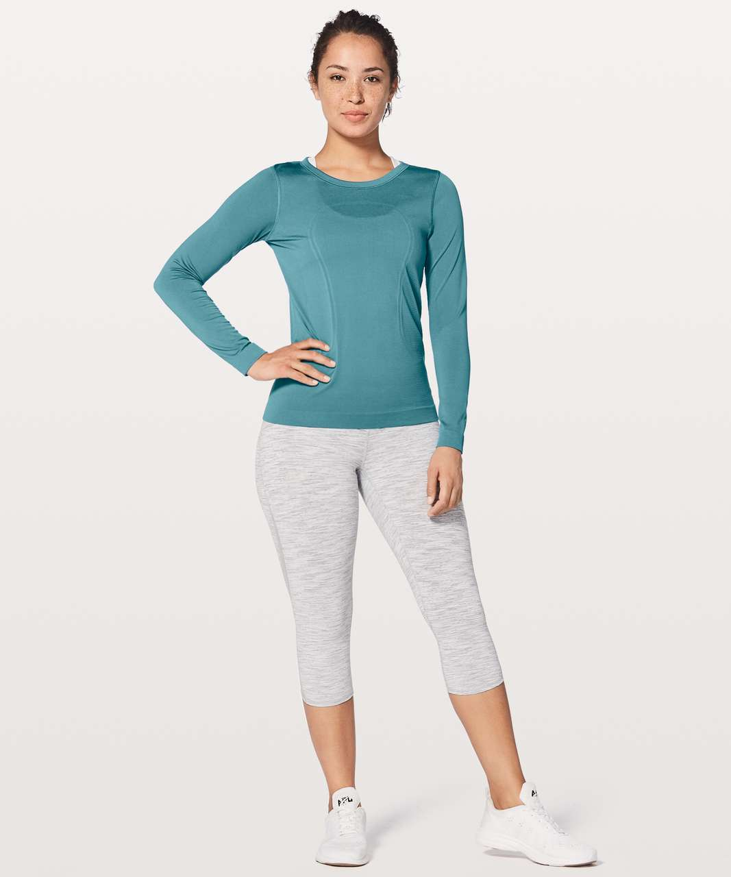 Lululemon Swiftly Tech Long Sleeve (Breeze) *Relaxed Fit - Persian Blue / Persian Blue