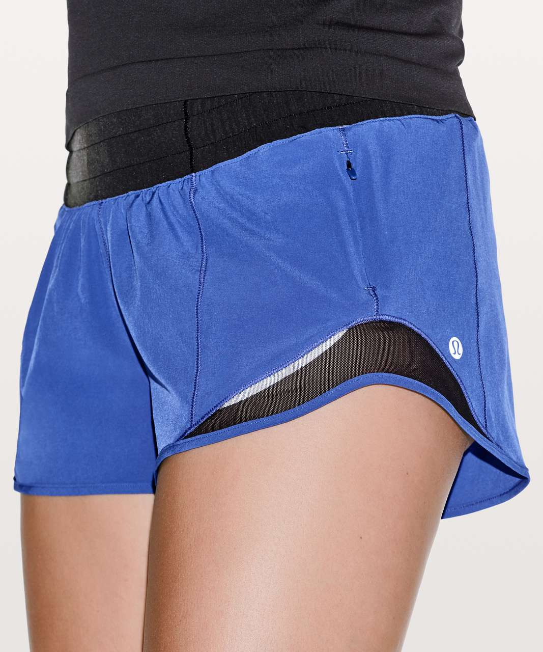 "Lululemon Hotty Hot Short II *2.5"" - Moroccan Blue / Black"