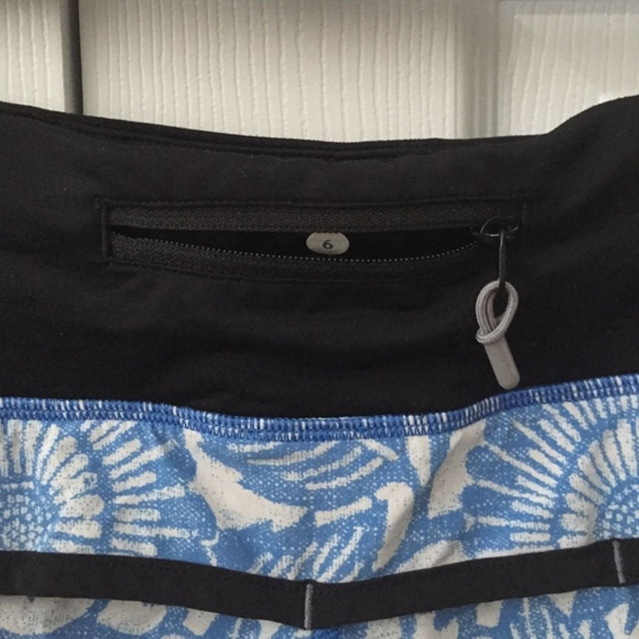 Lululemon Run:  Speed Short - Beachy Floral White Fossil / Black