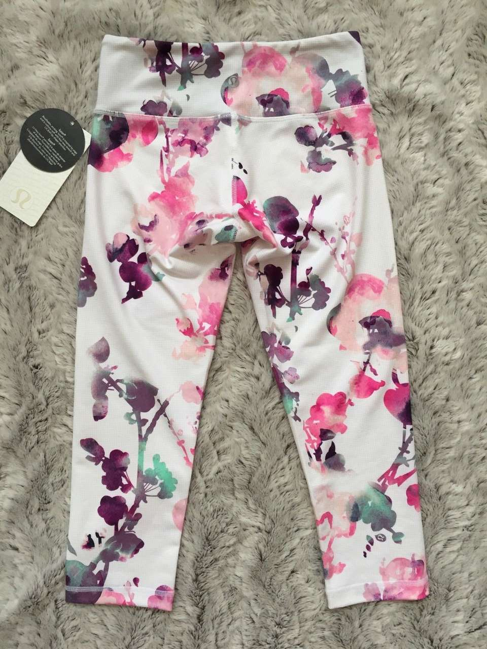 Lululemon Wunder Under Crop - Blurred Blossom