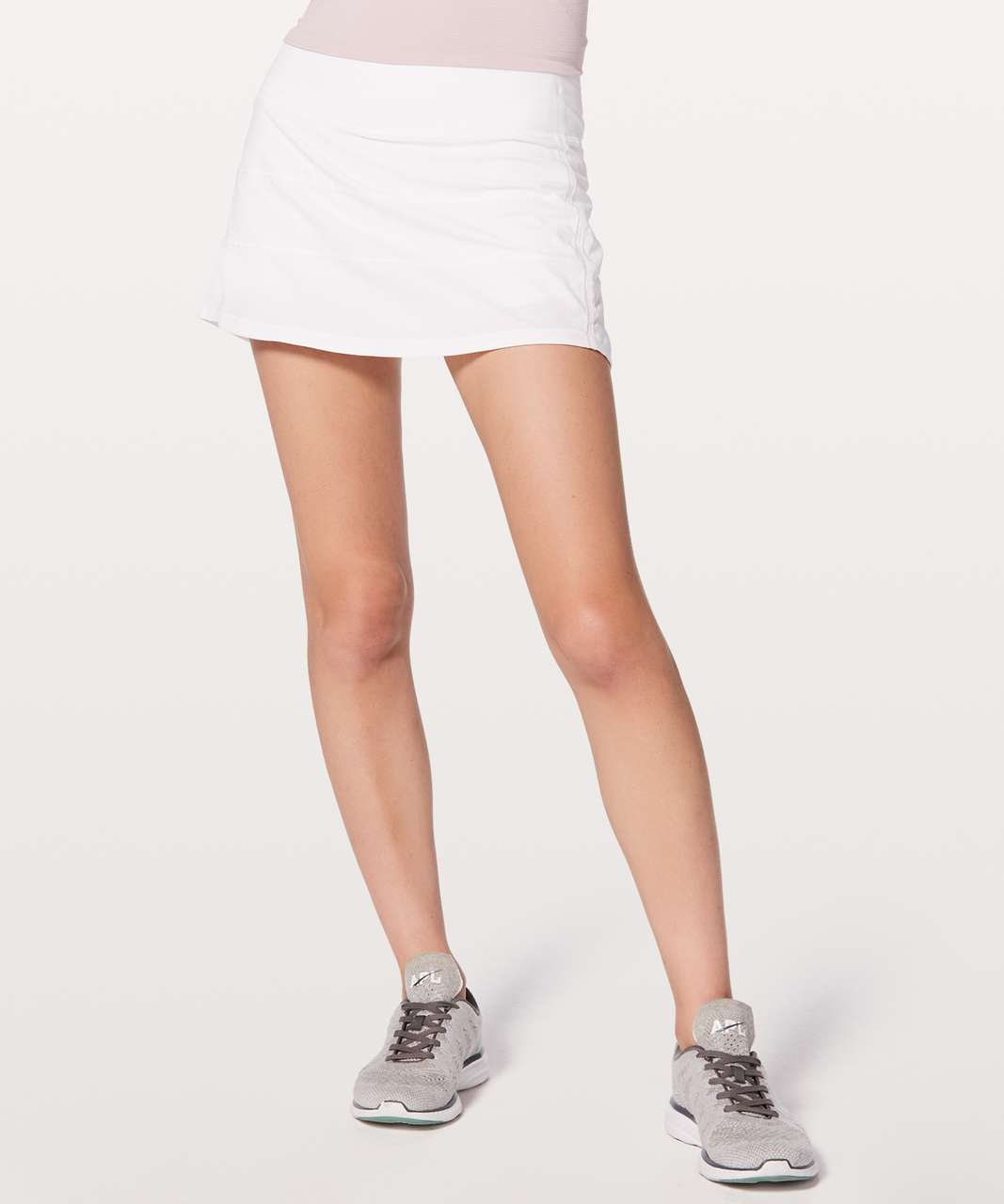 """Lululemon Pace Rival Skirt (Regular) *4-way Stretch 13"""" - White (First Release)"""