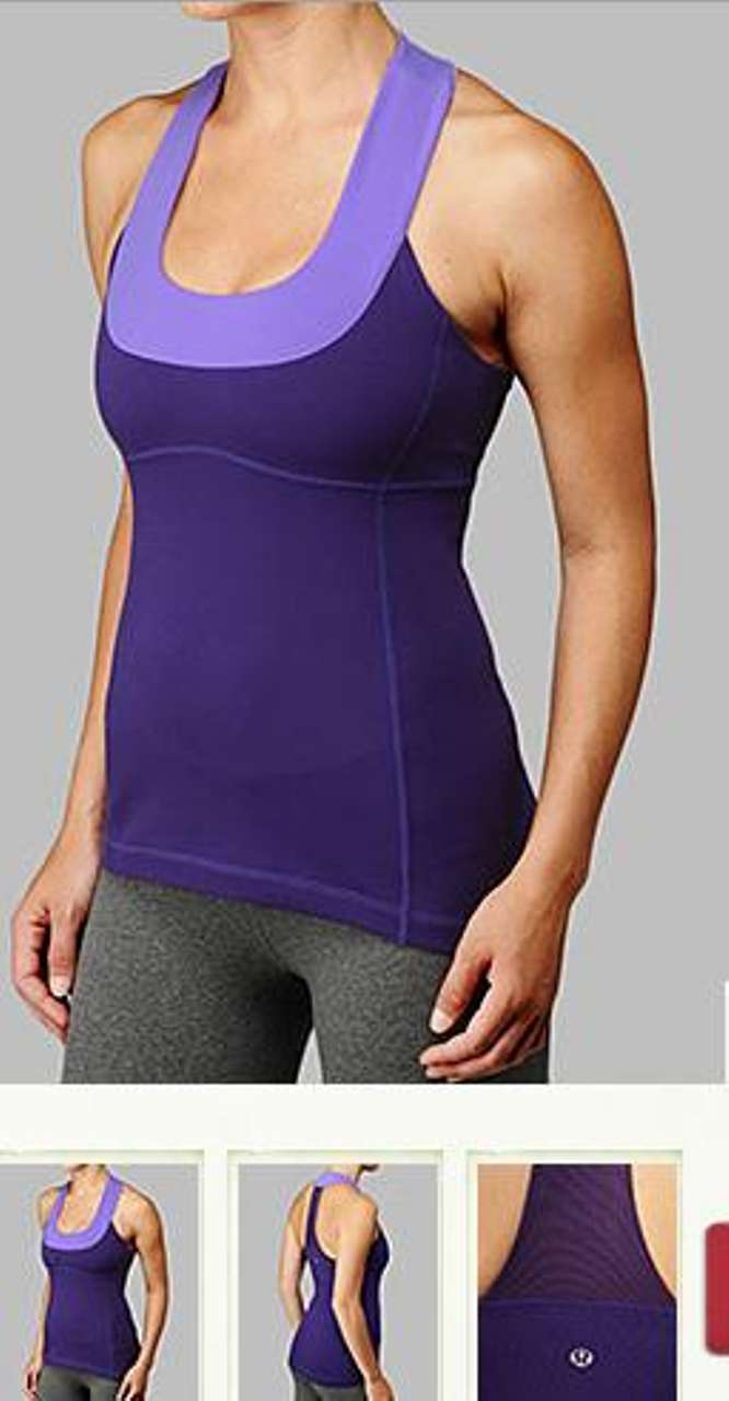 Lululemon Scoop Neck Tank - Lolo Purple / Power Purple
