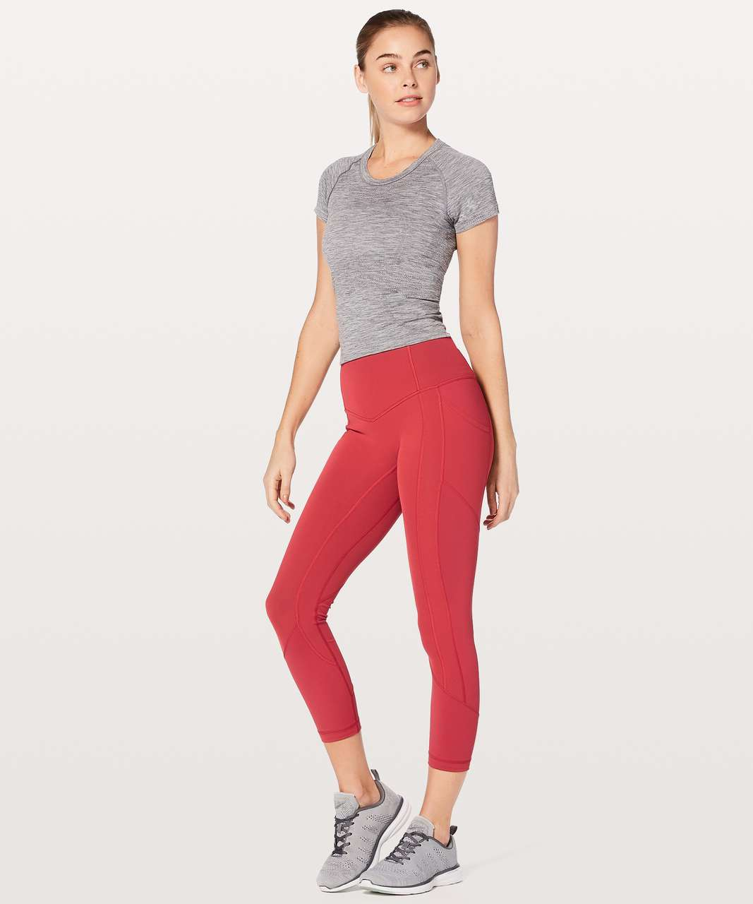 """Lululemon All The Right Places Crop II *23"""" - Persian Red"""