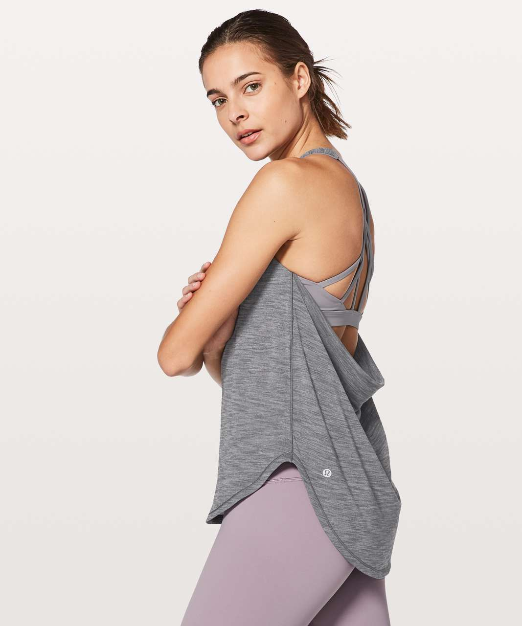 f3ec490c6 Lululemon Free To Be Serene Tank (2 In 1)  Medium Support For C D Cup -  Heathered Nebula   Dusty Dawn - lulu fanatics