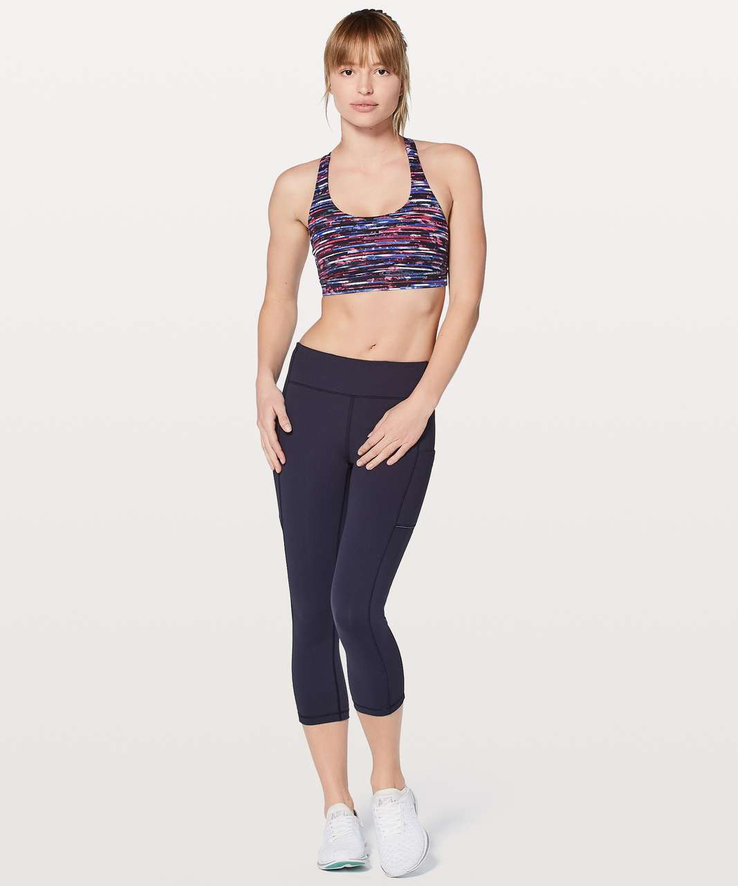 Lululemon Energy Bra - Hinshu Alpine White Multi