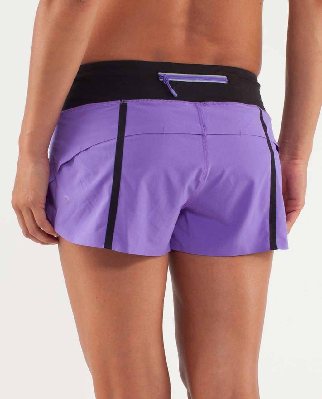 Lululemon Run:  Speed Short *Naked Seam - Power Purple /  Black