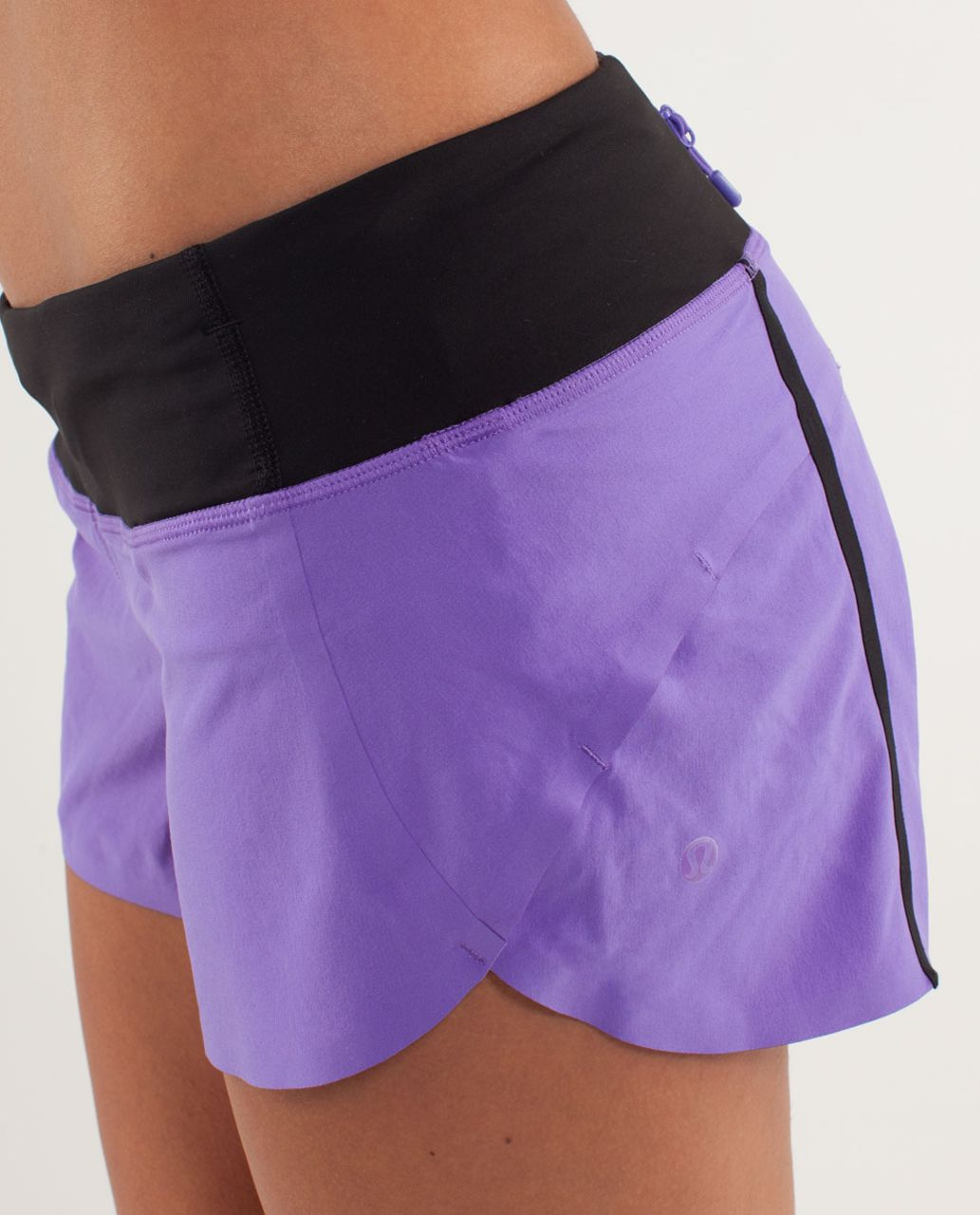 Lululemon Run:  Speed Short *Naked Seam - Power Purple /  Black