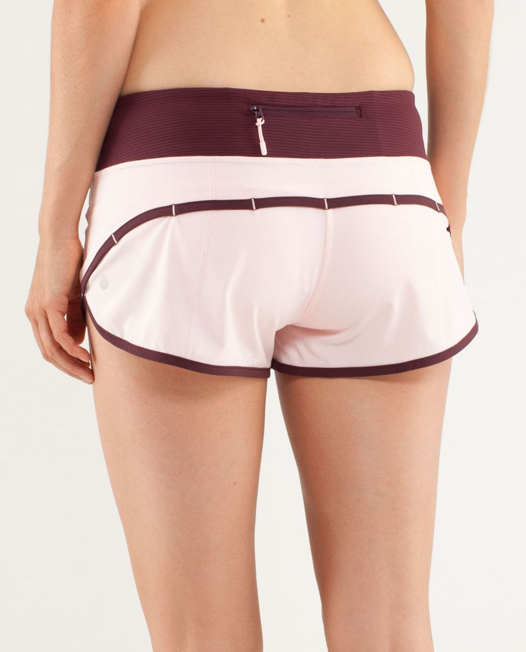 Lululemon Run:  Speed Short - Pretty Pink / Bordeaux Drama / Tonka Stripe Bordeaux Drama