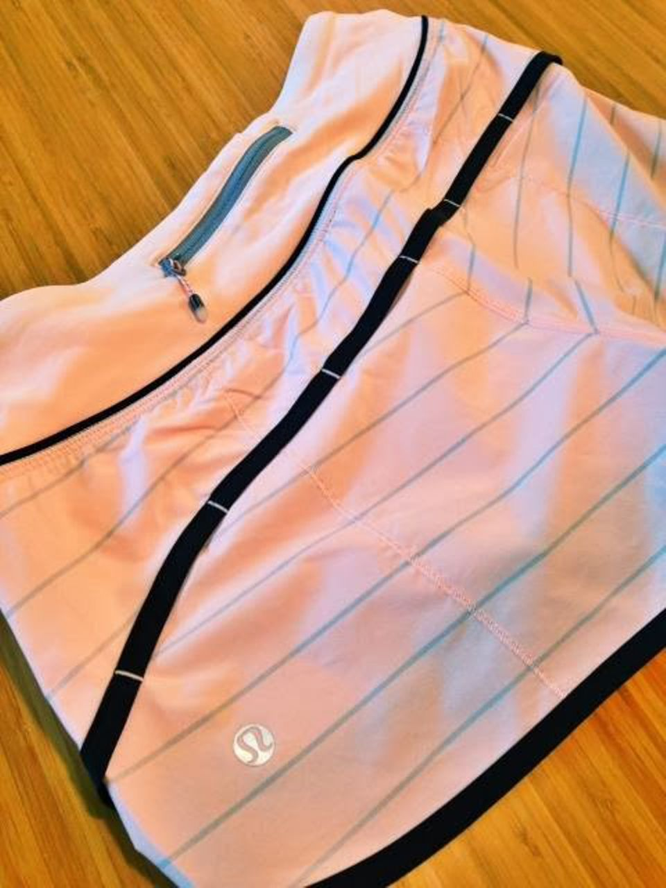 Lululemon Run:  Speed Short - Slalom Stripe Pretty Pink / Pretty Pink