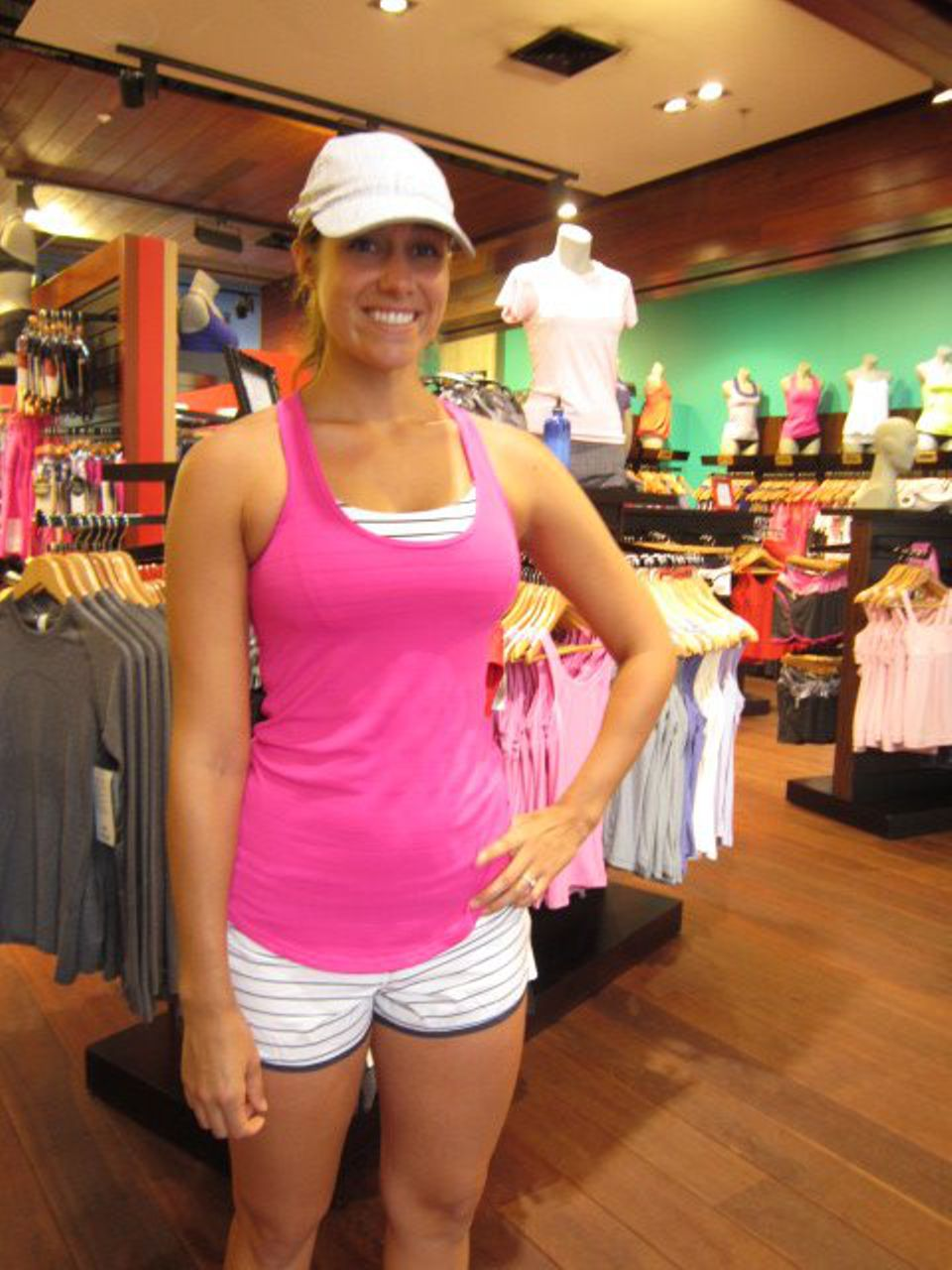 Lululemon Run:  Speed Short - Quiet Stripe White Deep Indigo /  Deep Indigo
