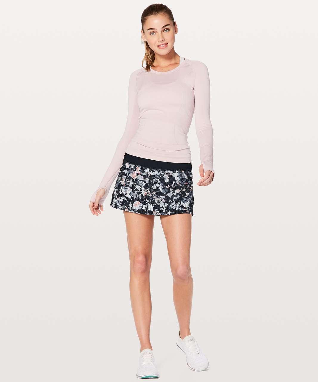 Lululemon Pace Rival Skirt (Regular) *No Panels - Spring Bloom Multi / Black