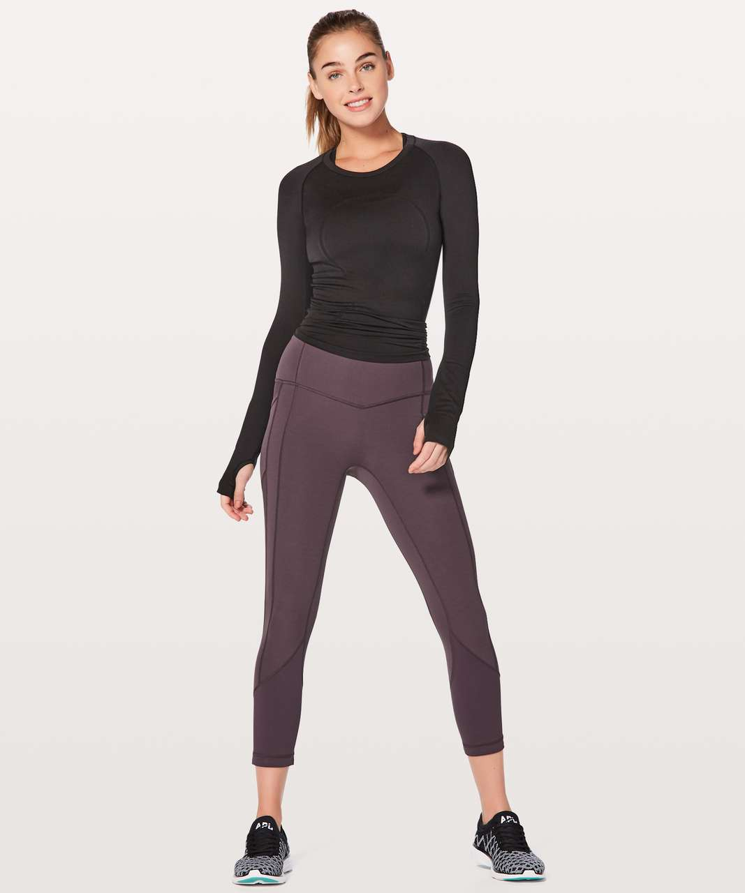 """Lululemon All The Right Places Crop II *23"""" - Black Currant"""