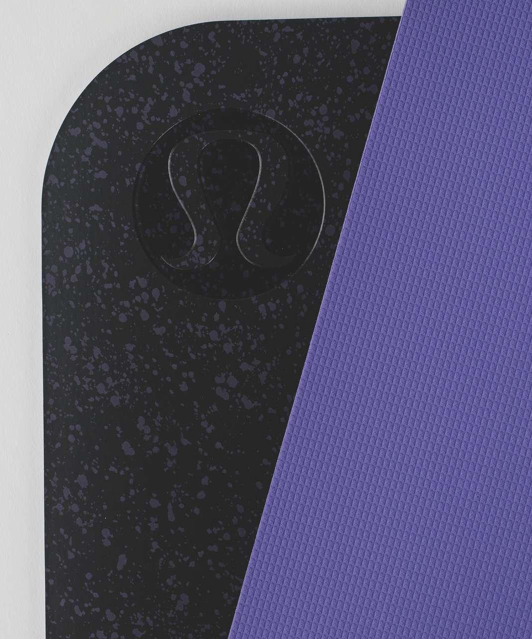 Lululemon The Reversible Mat 5mm - Splatter Black Power Purple Big / Power Purple