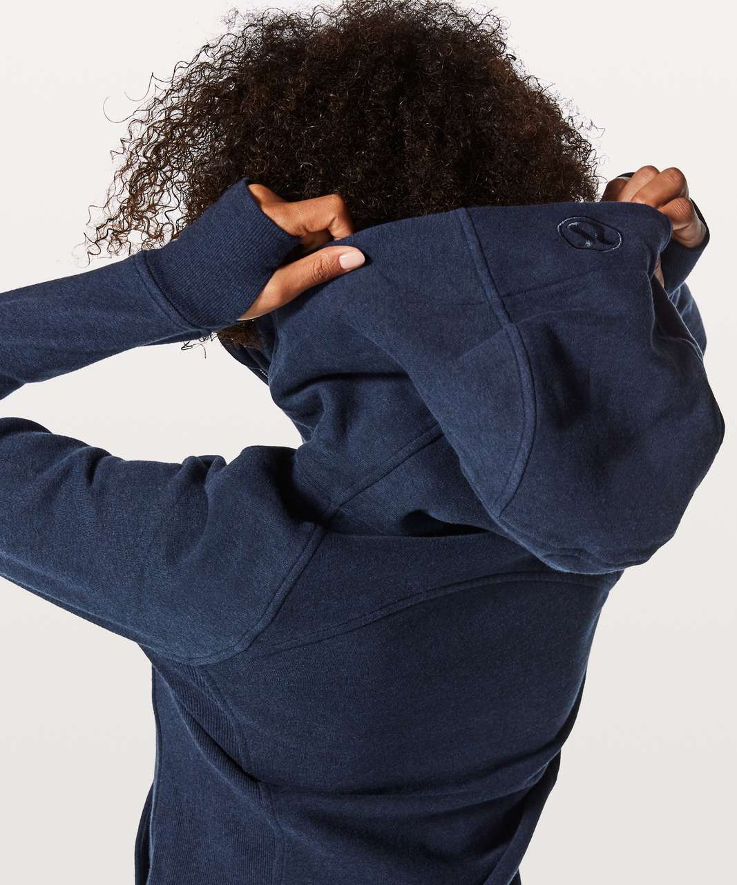 Lululemon Scuba Hoodie Light Cotton Fleece - Heathered Hero Blue / Hero Blue