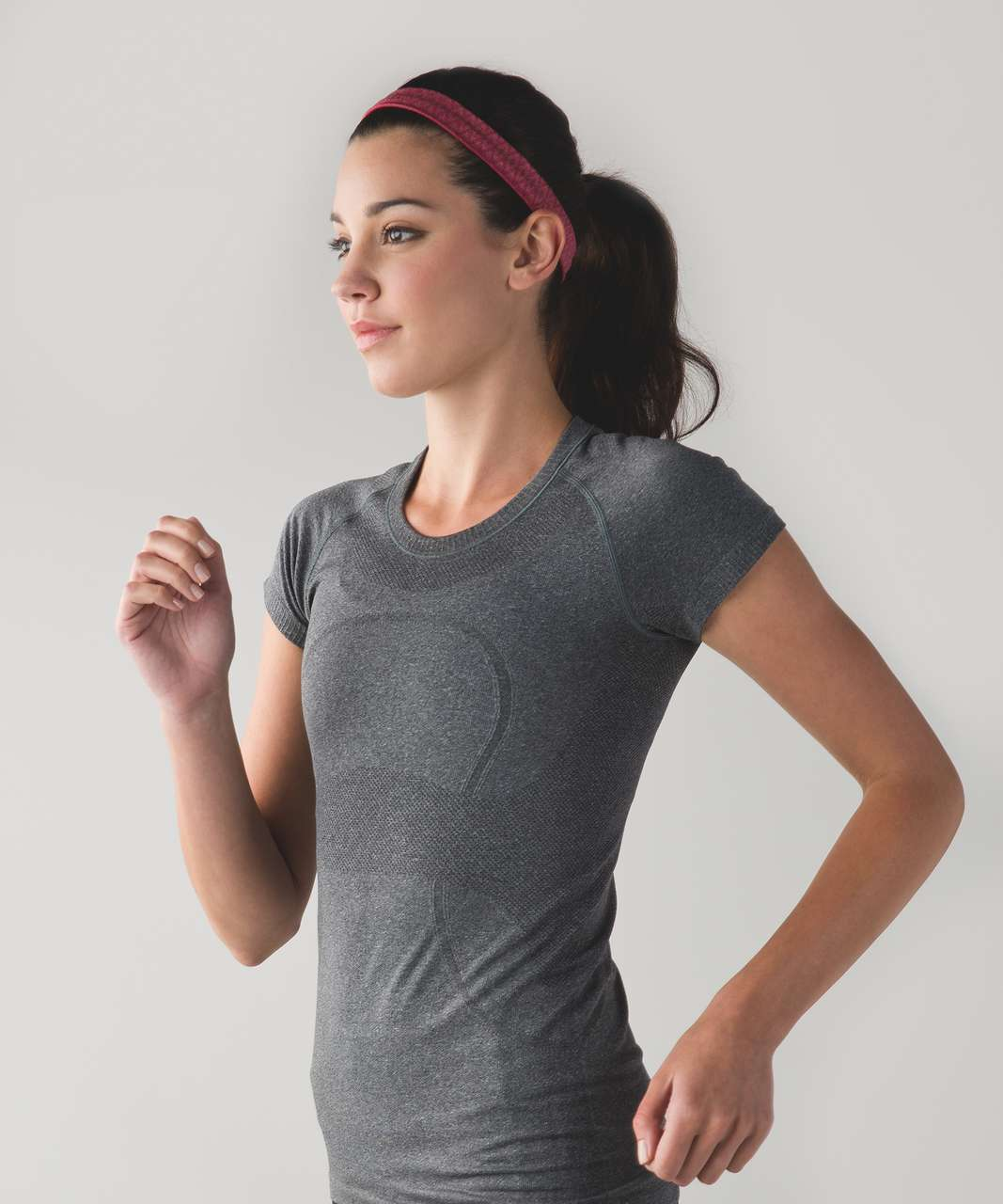 Lululemon Cardio Cross Trainer Headband - Heathered Cranberry