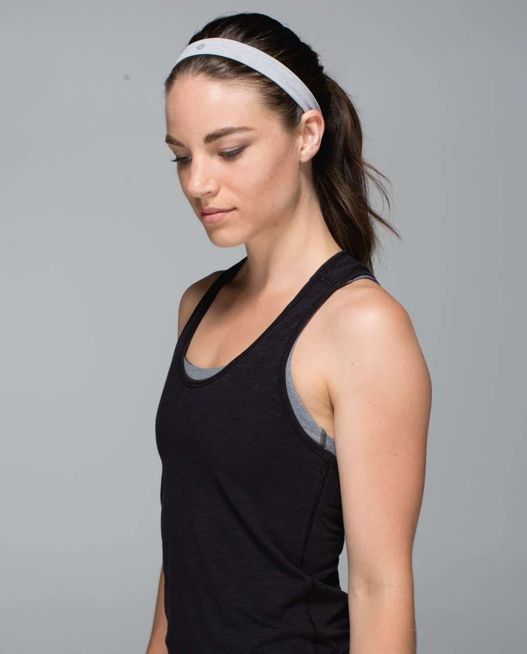 Lululemon Cardio Cross Trainer Headband - Black / Silver Fox