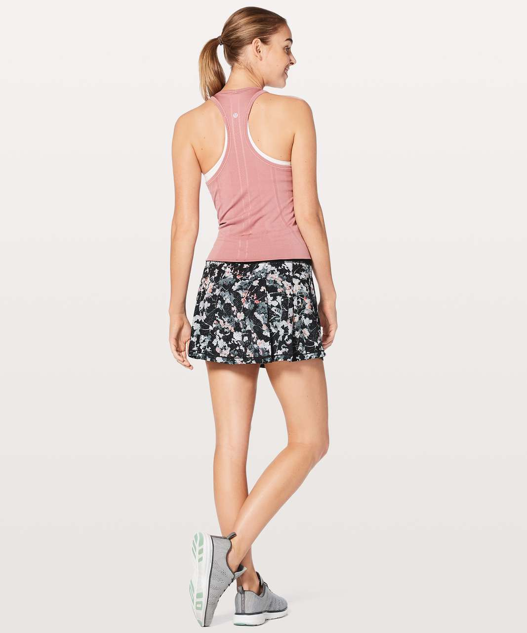 Lululemon Pace Rival Skirt (Tall) *No Panels - Spring Bloom Multi / Black