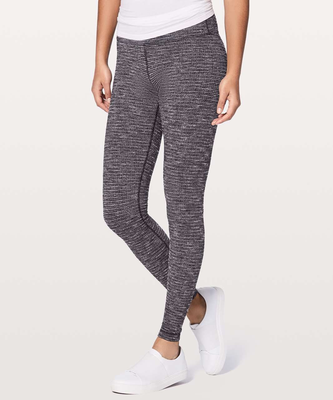 "Lululemon Wunder Under Hi-Rise Tight *28"" - Coco Pique Black White"