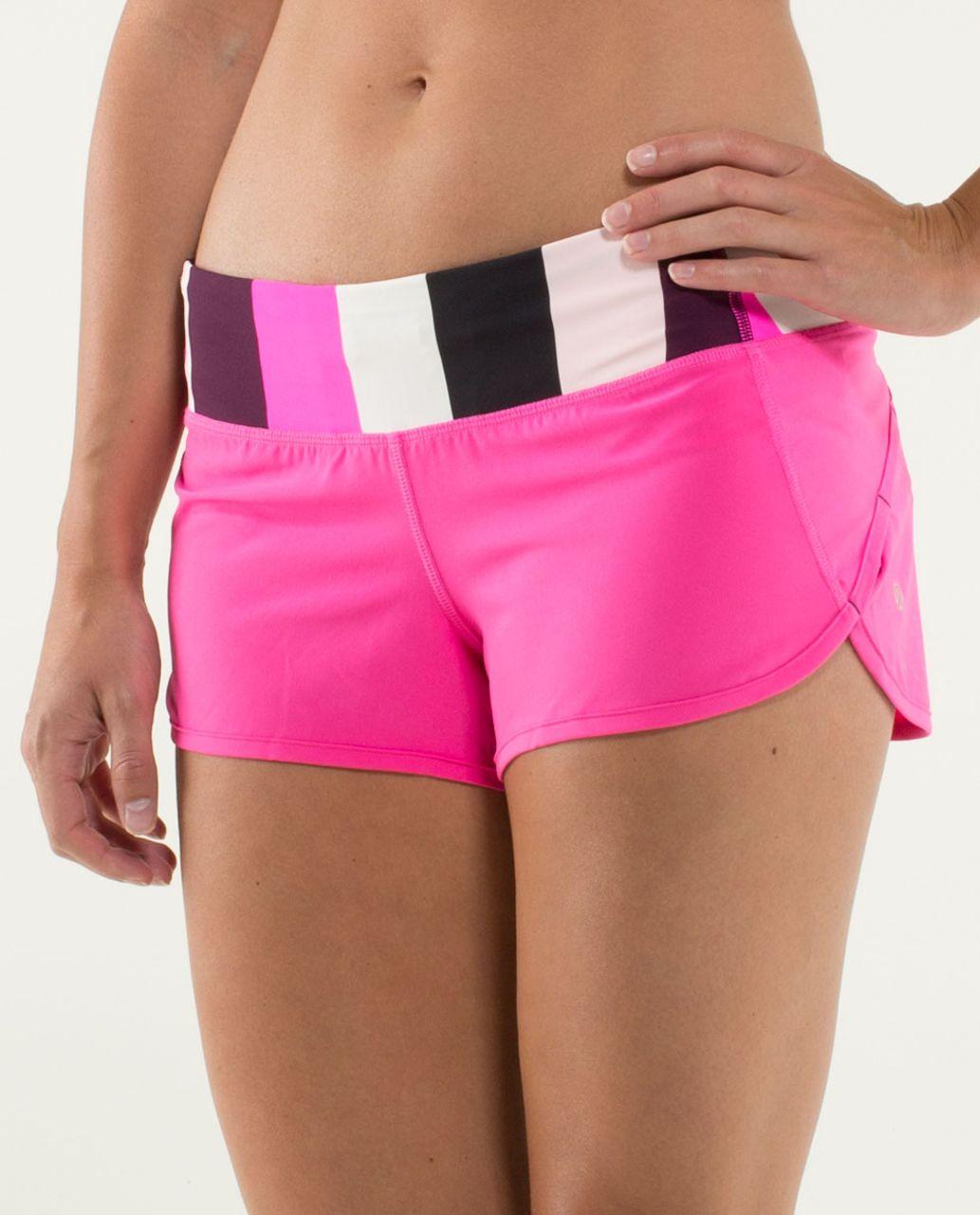 Lululemon Run:  Speed Short - Raspberry Glo Light / Pow Stripe Raspberry Glo Light