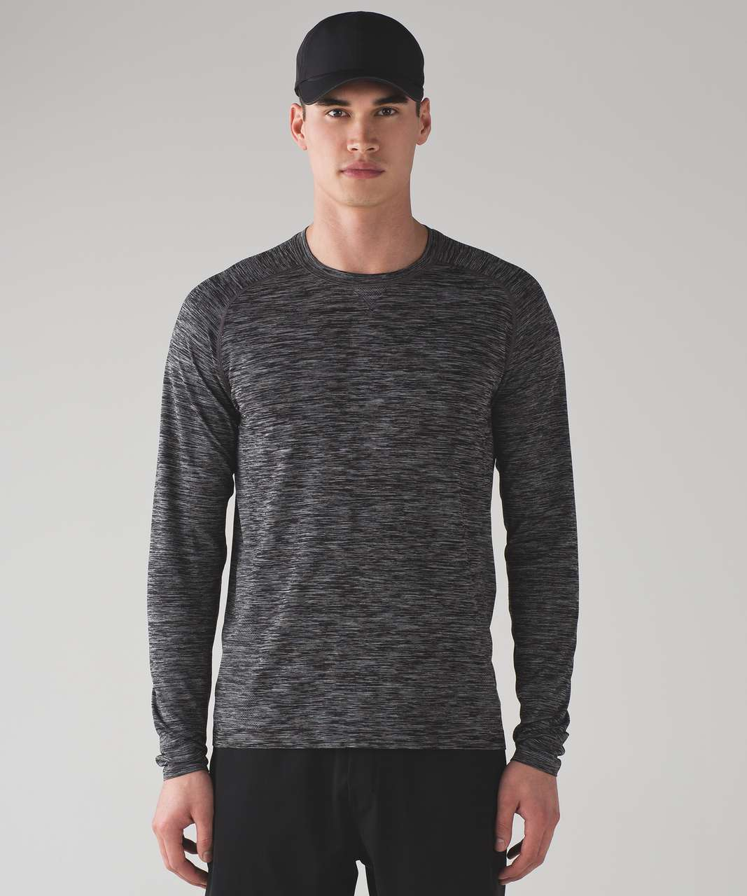 7457b90a8 Lululemon Metal Vent Tech Long Sleeve - Heathered Black - lulu fanatics