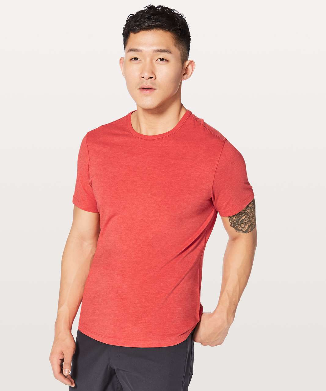 Lululemon 5 Year Basic Tee *Updated Fit - Heathered Amaranth