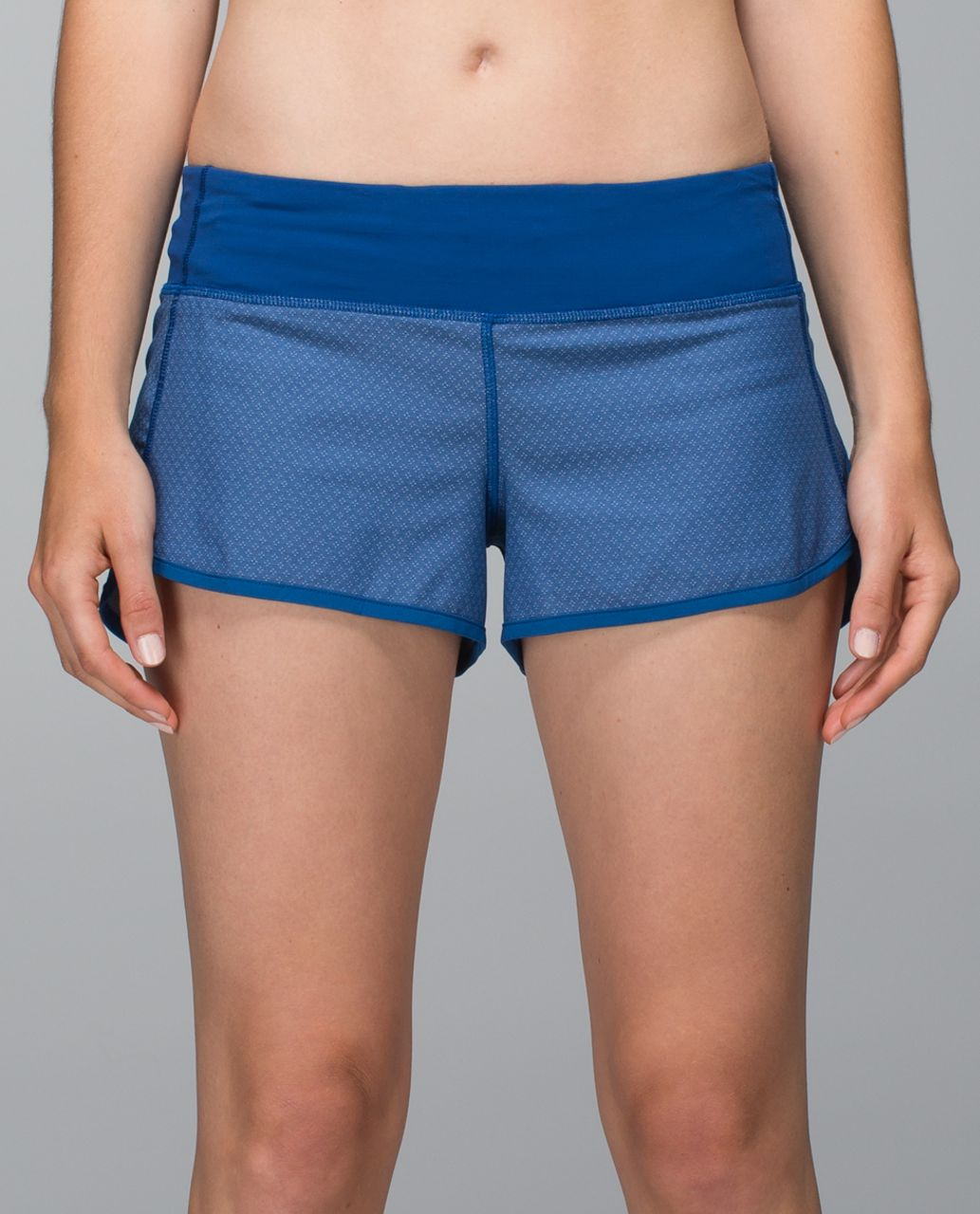 Lululemon Run:  Speed Short *4-way Stretch - Diamond Dot Swift Wicking Rugged Blue / Rugged Blue
