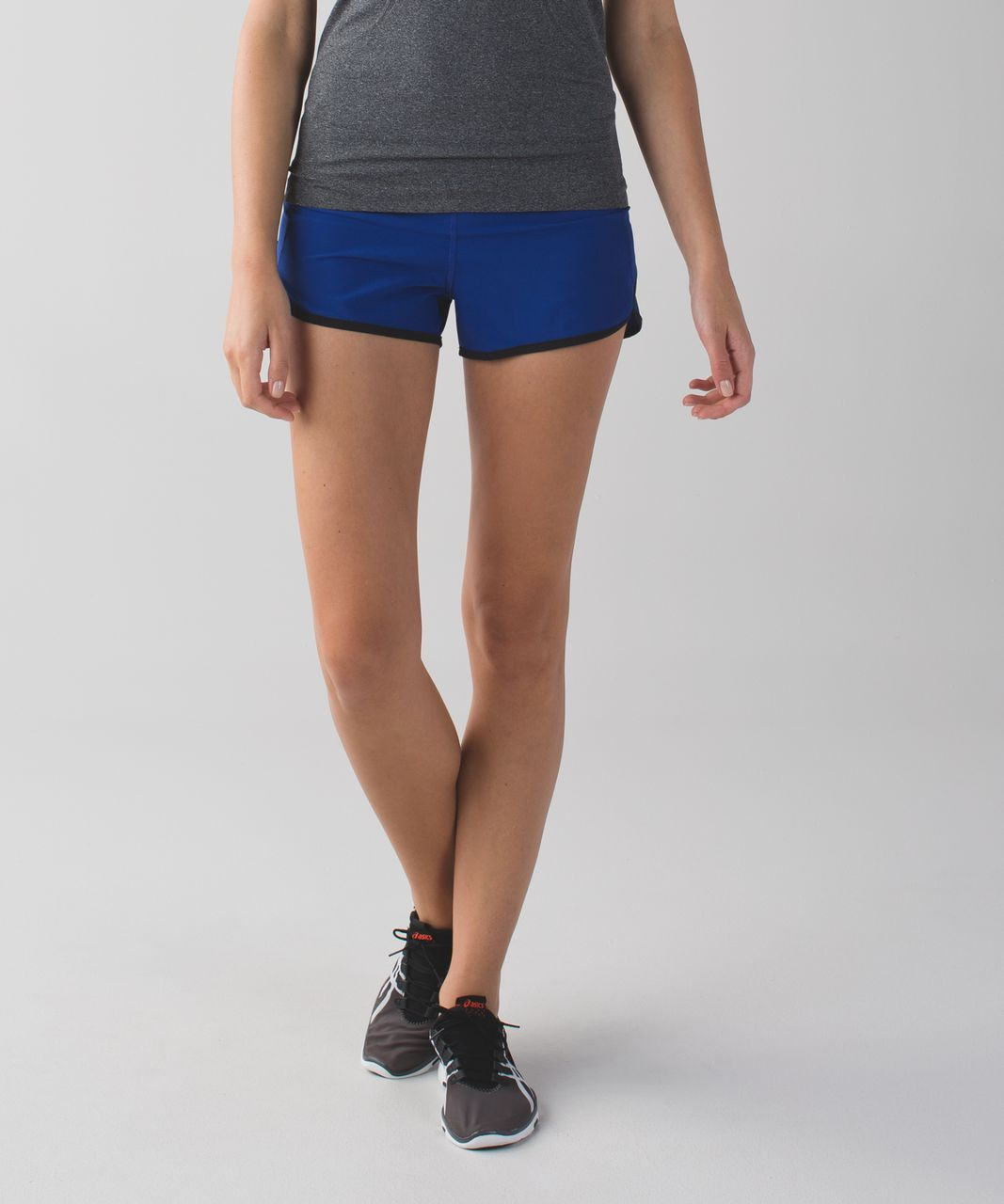 Lululemon Run:  Speed Short *4-way Stretch - Sapphire Blue / Washi Weave Angel Wing Naval Blue / Black