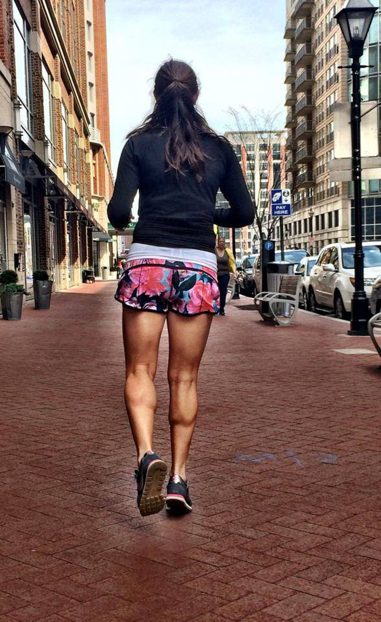 Lululemon Run:  Speed Short *4-way Stretch - Secret Garden / Black