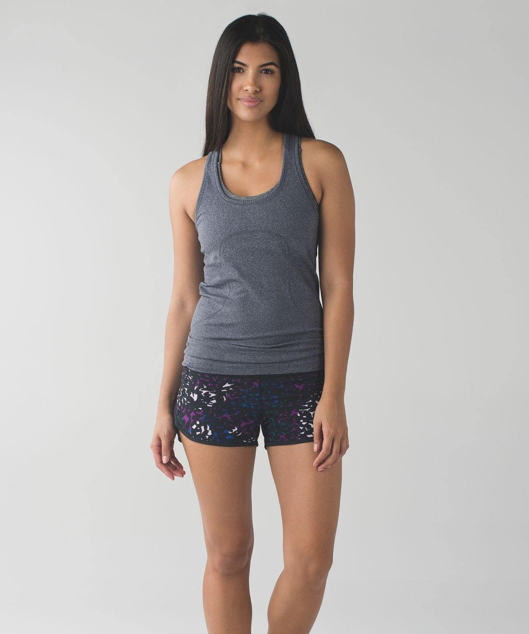Lululemon Run:  Speed Short *4-way Stretch - Shadow Wrap Multi / Black