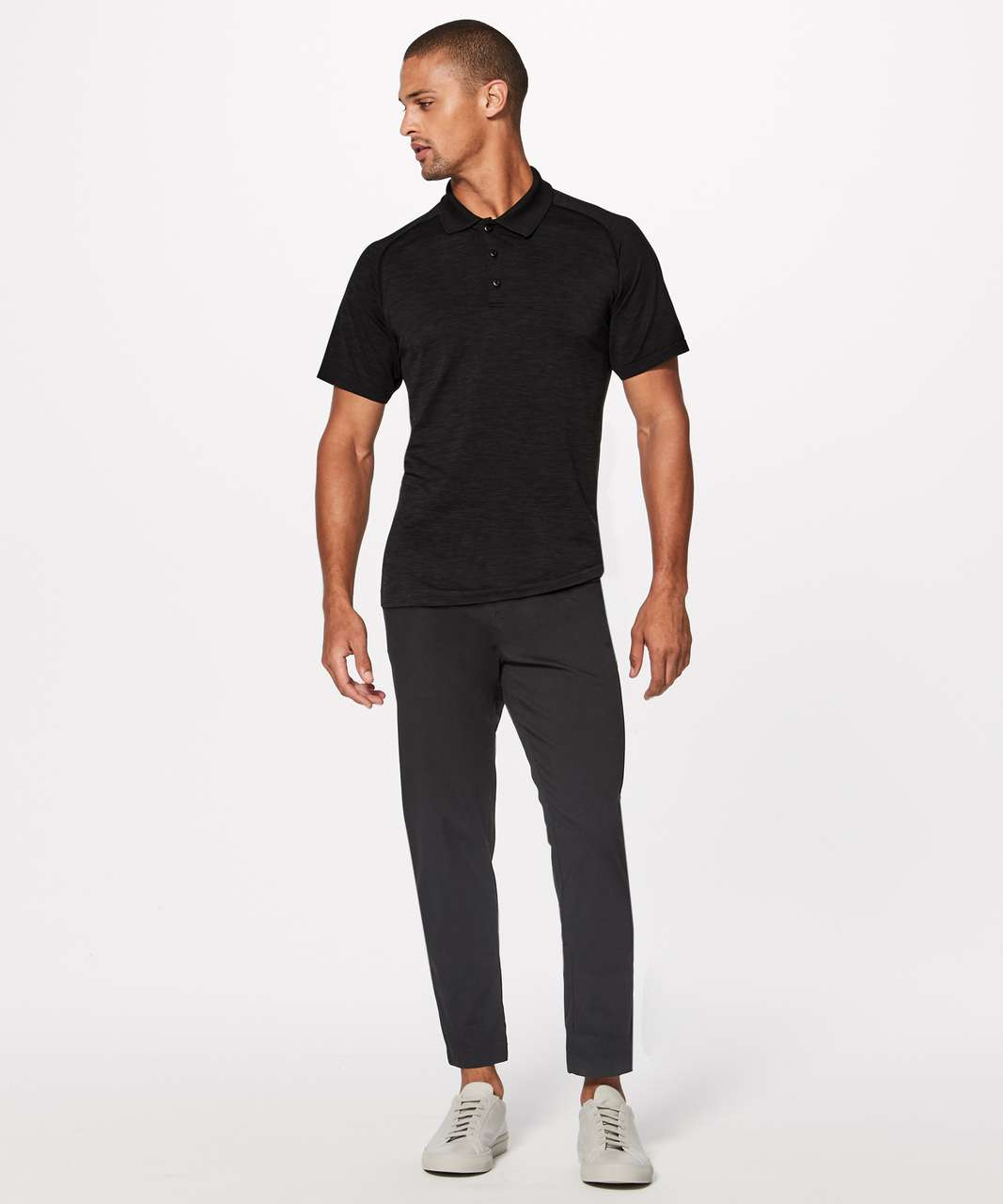 Lululemon Metal Vent Tech Polo - Deep Coal / Black