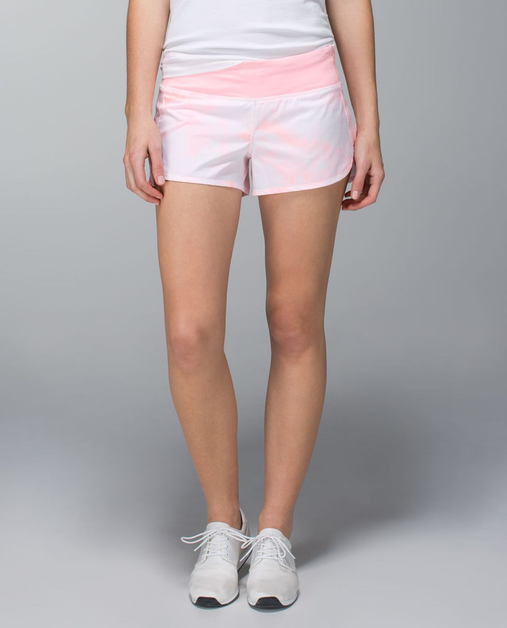 Lululemon Run:  Speed Short *2-way Stretch - Spray Dye Barely Pink Bleached Coral / Bleached Coral