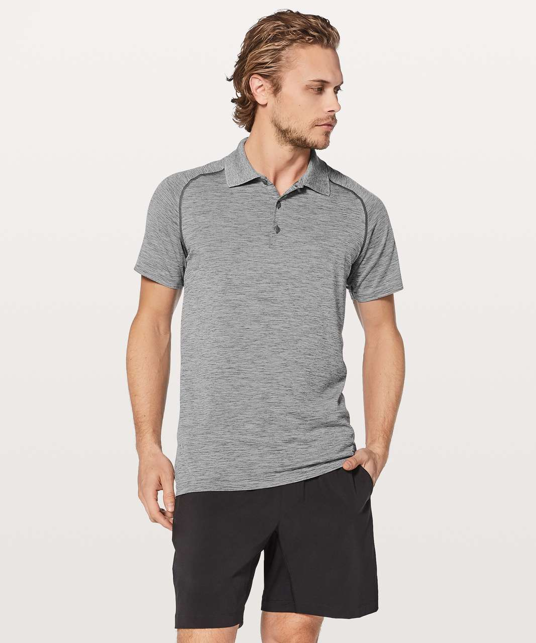 Lululemon Metal Vent Tech Polo - Slate / White