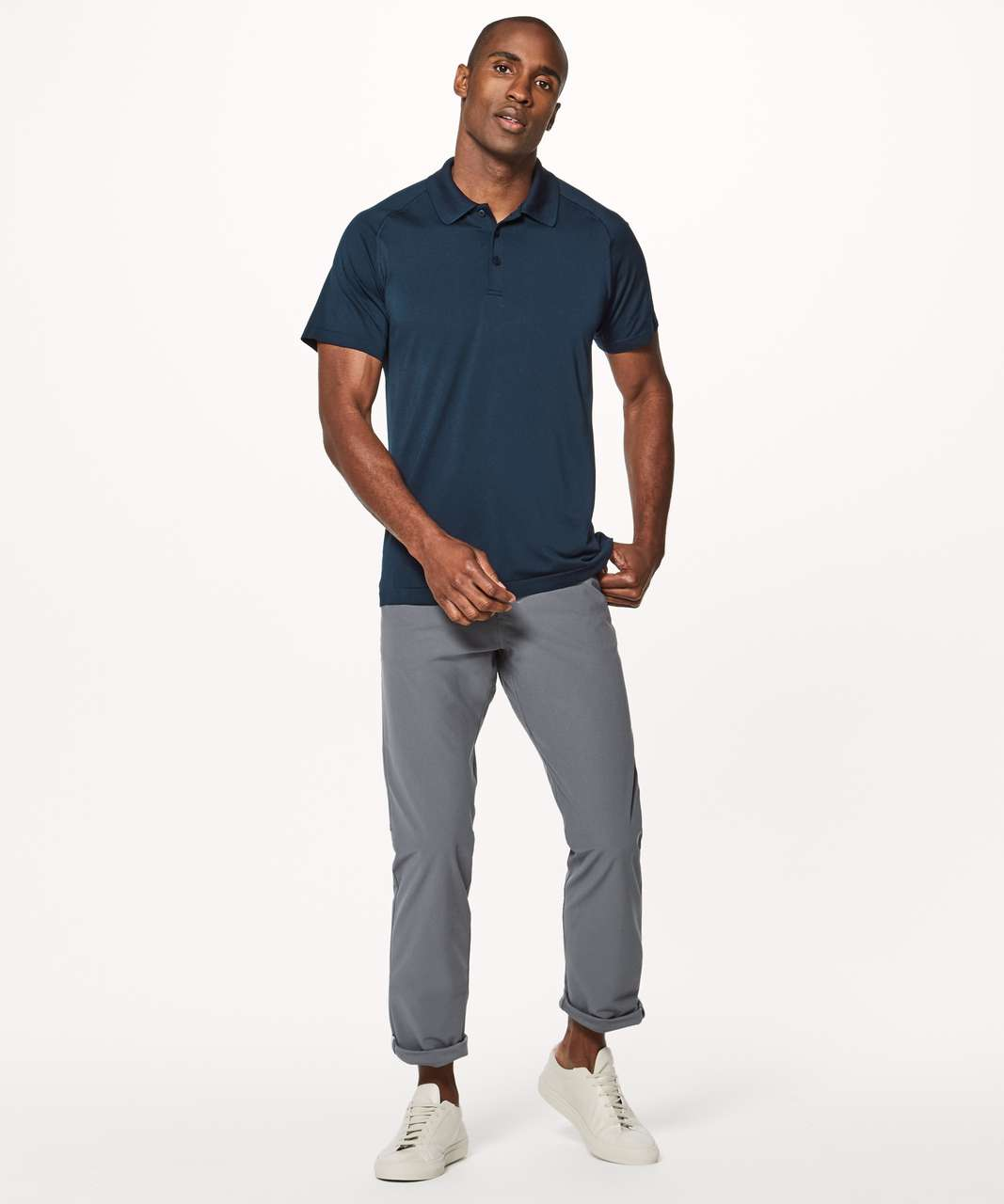 Lululemon Metal Vent Tech Polo - Nautical Navy / Nautical Navy (First Release)