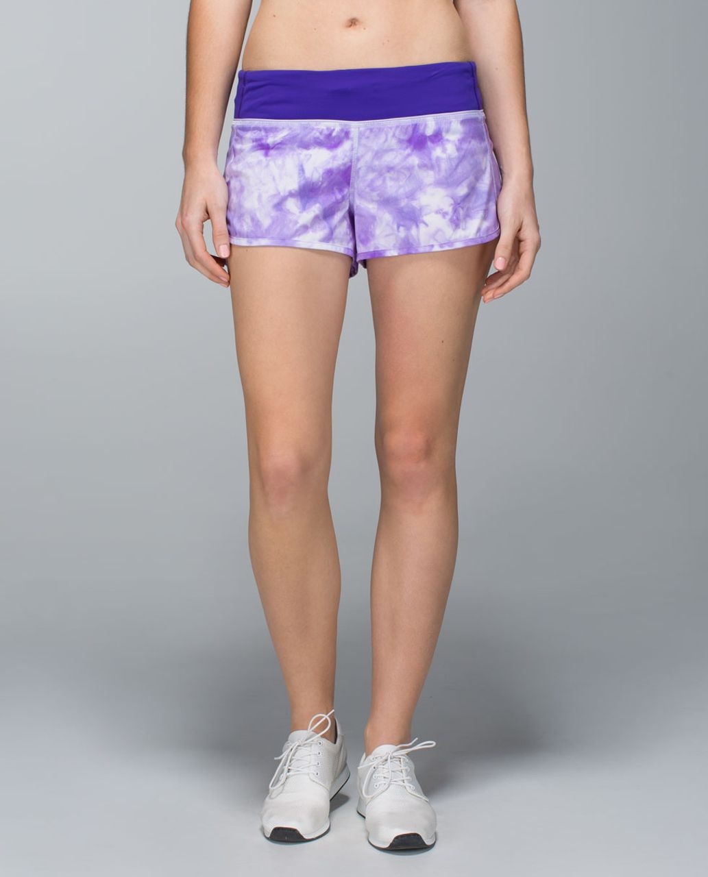 Lululemon Run:  Speed Short *2-way Stretch - Spray Dye Cool Breeze Bruised Berry / Bruised Berry