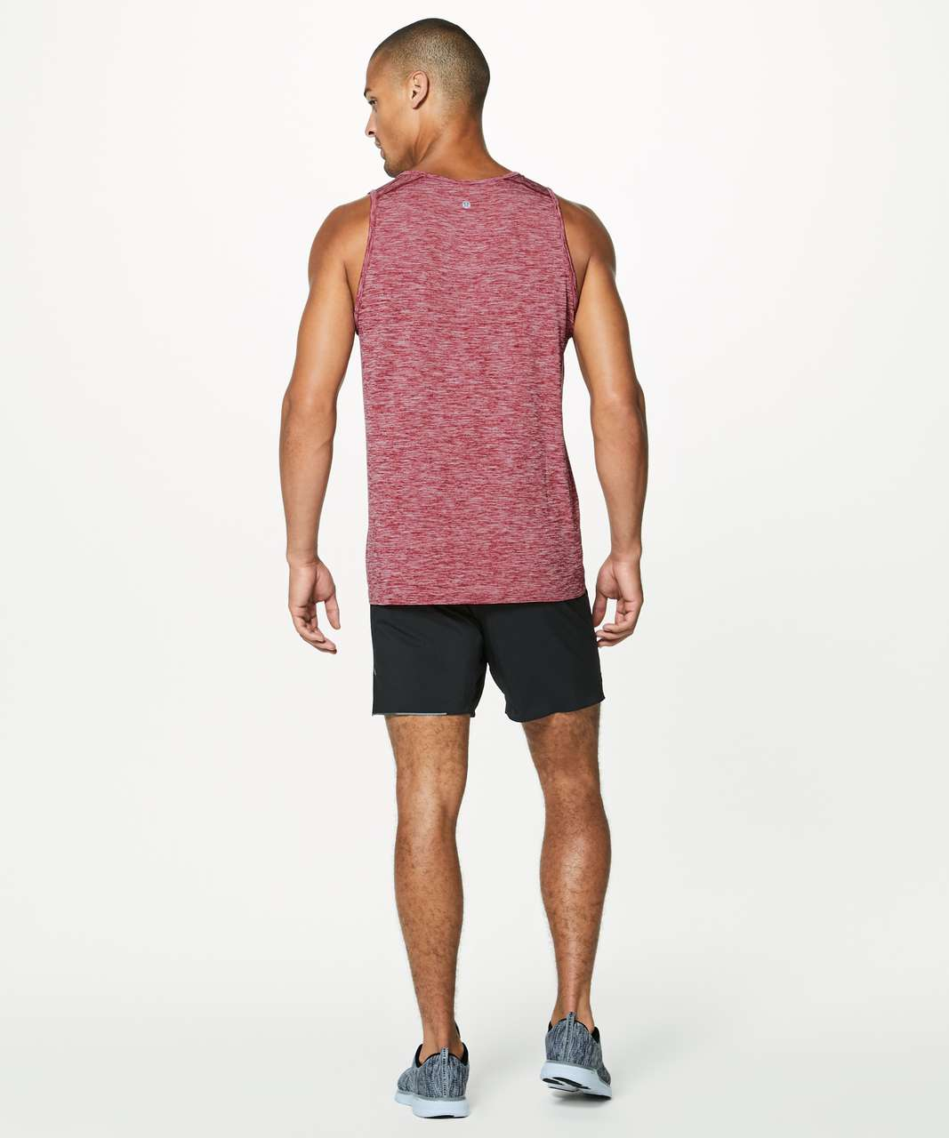 Lululemon Metal Vent Tech Surge Tank - Game Day Red / White