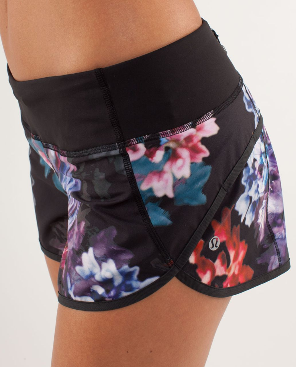 Lululemon Run:  Speed Short - Spring Has Sprung Multi / Black