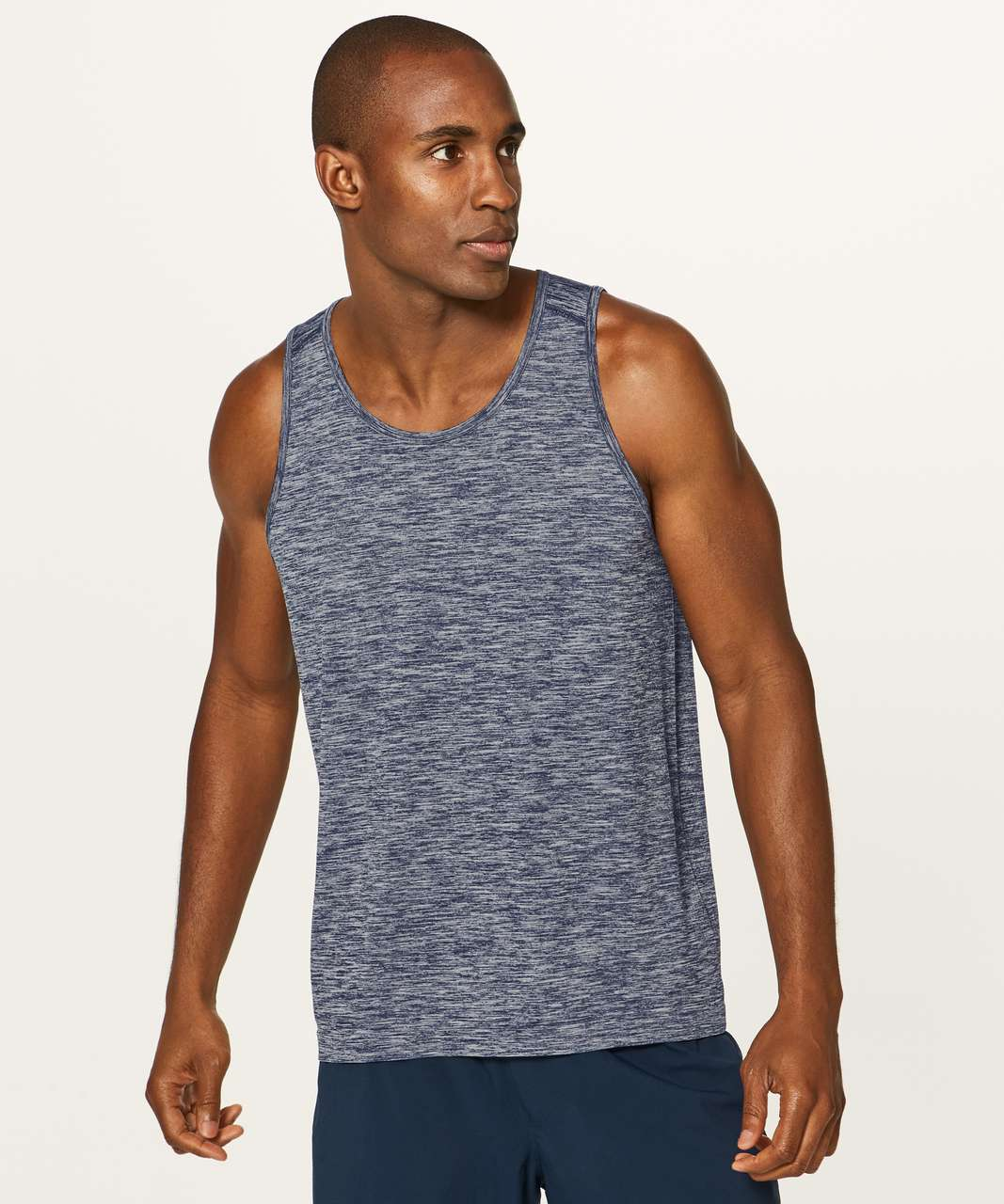 Lululemon Metal Vent Tech Surge Tank - Deep Navy / White
