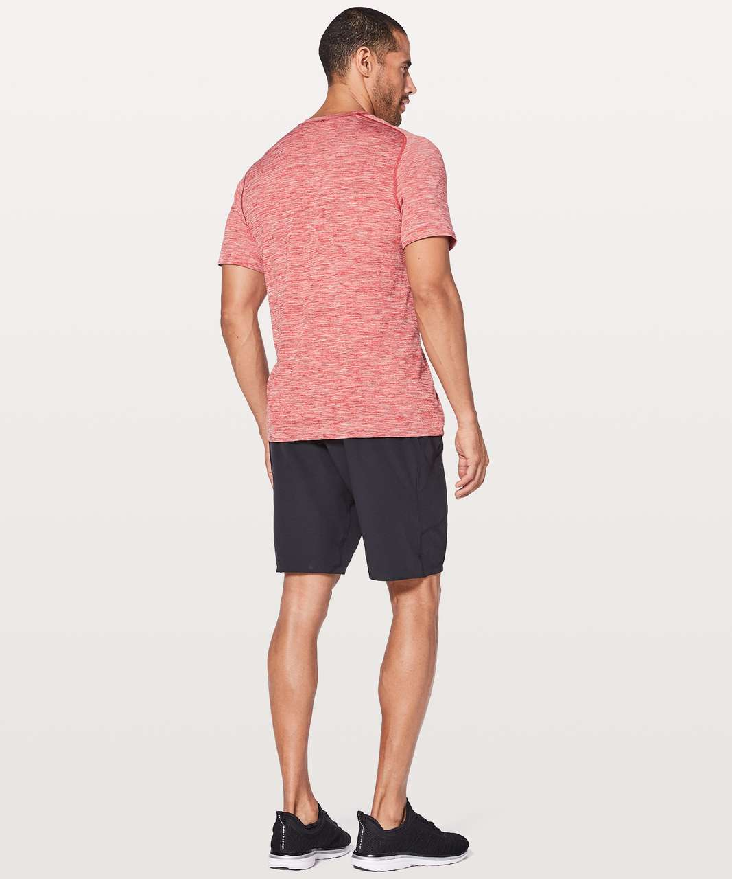 Lululemon Metal Vent Tech Surge Short Sleeve - Game Day Red / White
