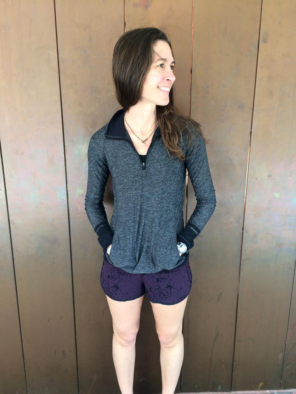Lululemon Run:  Speed Short *4-way Stretch - Star Crushed Black Cherry Black / Black
