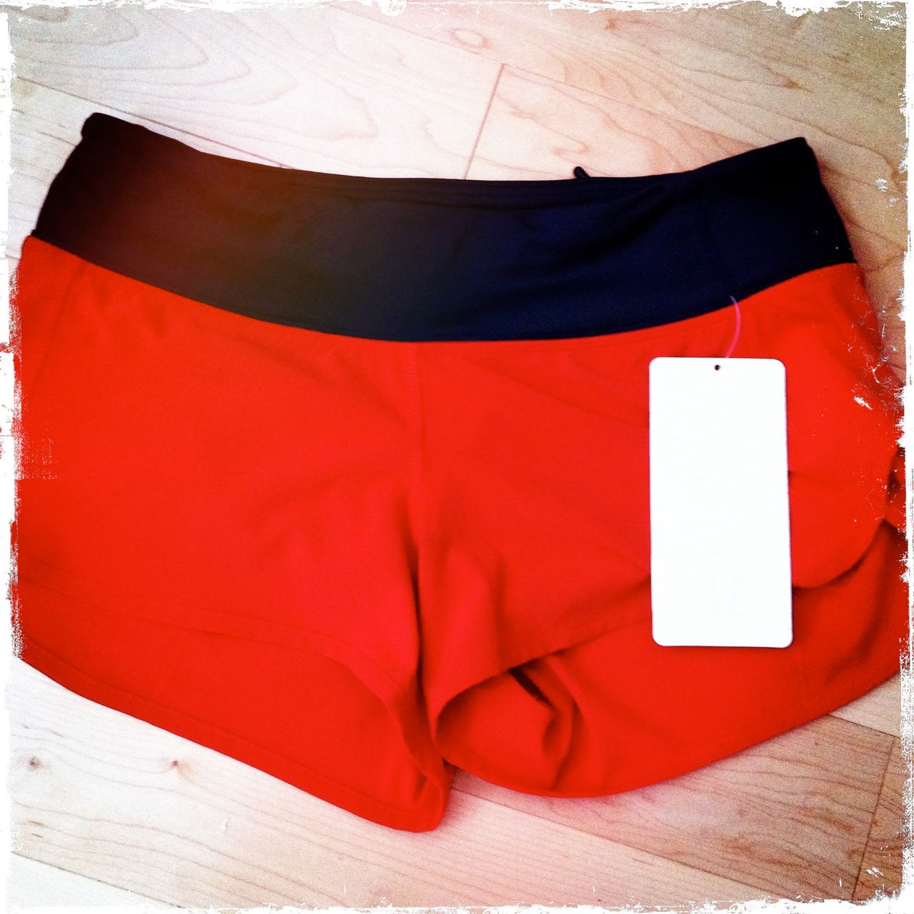 Lululemon Speed Short - Tango Red (Coal Waistband)