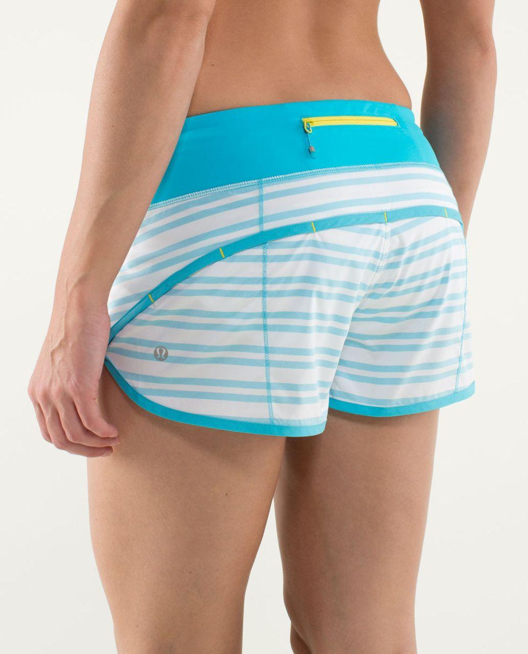 Lululemon Run:  Speed Short - Twin Stripe Spry Blue / Spry Blue
