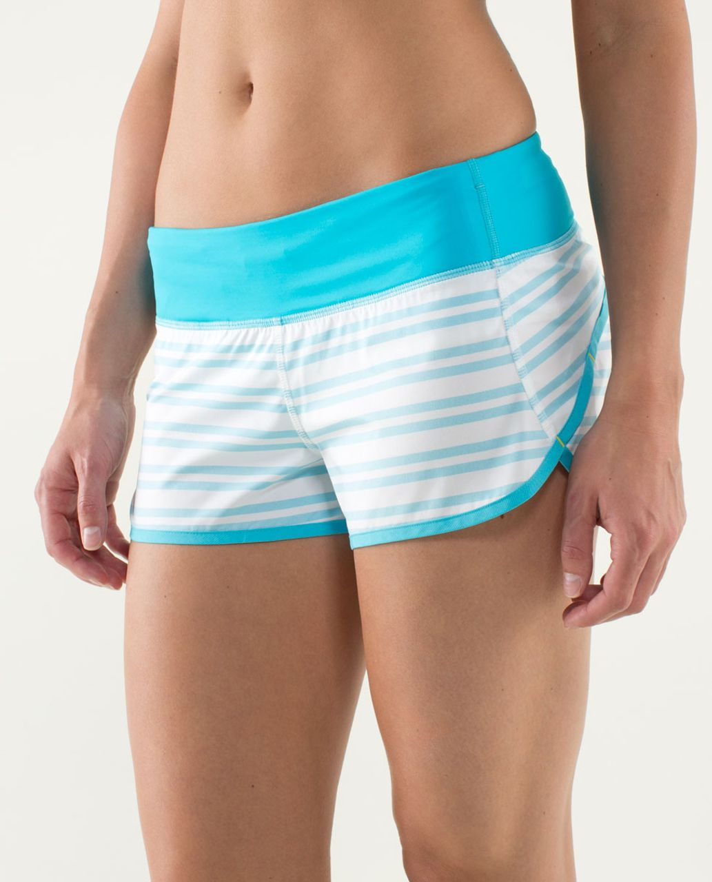 Lululemon Run:  Speed Short - Twin Stripe Spry Blue / Spry Blue